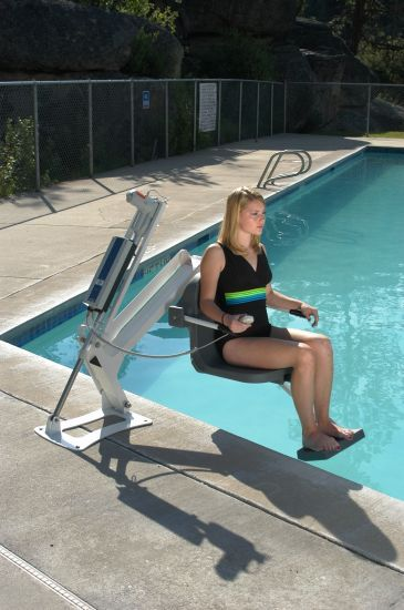 Aqua creek pool lifts ada approved lifts handicap lifts for Swimming pool lifting out of ground